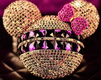 Handmade Gold Swarovski Minnie Mouse Portable Charger