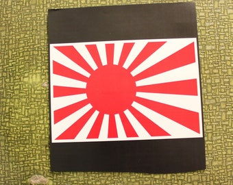 rising sun flag of Japan heat press transfer iron on for t-shirts, sweatshirts