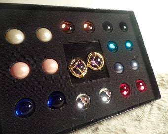 Joan Rivers Interchangeable  Earrings Set with Original Box