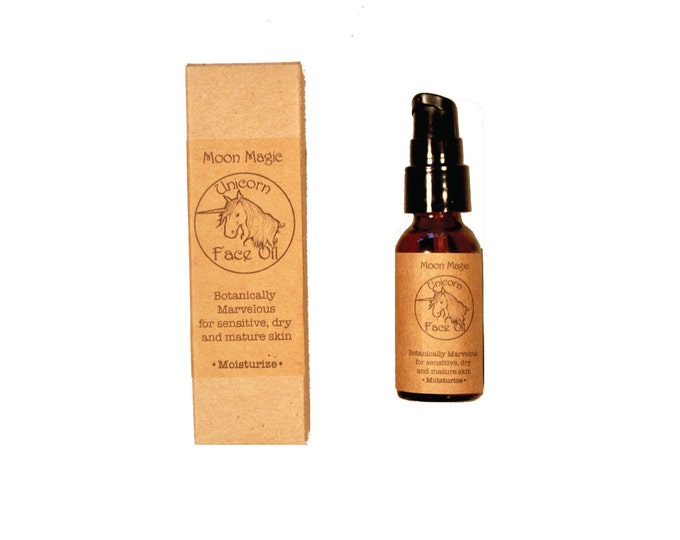 Unicorn moisturizing facial oil, for dry, mature and sensitive skin, honeysuckle, sandalwood, jasmine