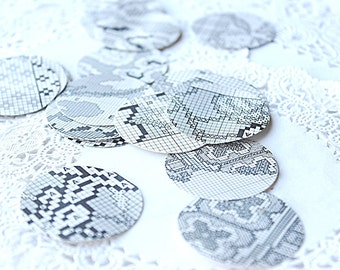 Needlepoint Pattern Stickers, Envelope Seals, Adhesive Stickers