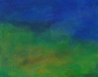 Horizon 2 acrylic painting on canvas board semi-abstract landscape
