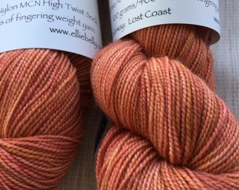"Elliebelly MCN High Twist Sock Yarn ""Lost Coast"""