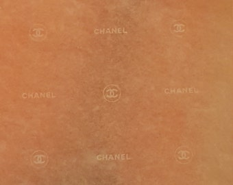 5 HUGE sheets 30 x 20 size BEAUTIFUL Authentic Chanel CC gift wrap tissue paper logo supply craft sheer white Delicate
