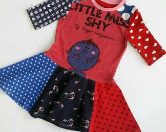 Size 4 upcycled girls little miss skater dress, girls clothing, children's clothing,kidsclothes, kids, girl, girls dress, upcycling, twirl