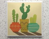 Cacti Tile Coaster
