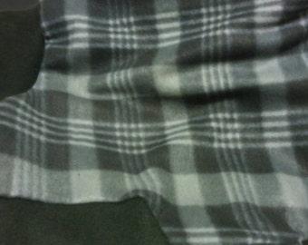 Greyhound Jammies Large- Black grey plaid