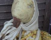 MUSTARD SEED ORIGINALS, Peep, Chicken, Spring, Easter, Very Primitive, Folk Art, TeamHaHa, Hafair, Ooak, Doll by Sharon Stevens