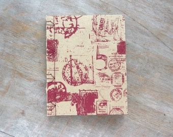 Postmark Softcover Small Sketchbook or Travel Journal, 6x5 inches, Postmark, unlined pages, Ready to Ship