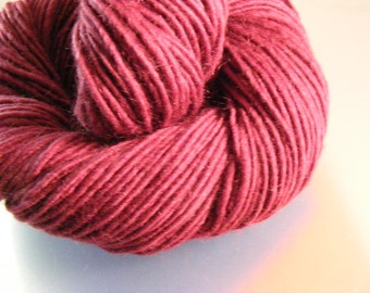 SALE... Was 8.50... Now 6.00...MULBERRY WINE...handspun, handpainted wool yarn...4oz...180yd