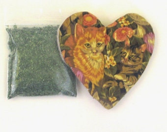 Catnip Heart Toy with Catnip  Cats Flowers Refillable