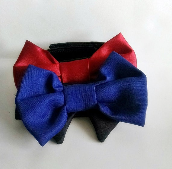 red or royal blue dog bow tie: Dog Bow Tie Red and Black
