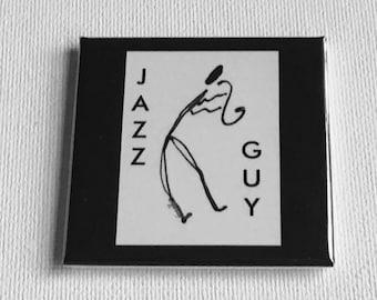 Jazz Guy Black and White Magnet