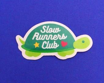 Slow Runners Club Vinyl Sticker - Cute Tortoise Sticker