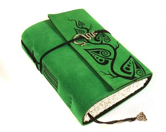 Journal, Leather, Diary, Notebook, Green Leaves