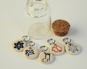 Holiday/Winter Themed Stitch Markers Set of 5