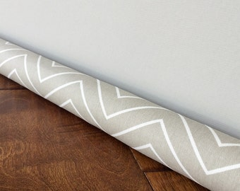 TAUPE chevron door draft stopper / Modern chevron pattern draft guard cover