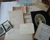Lovely Ephemera Packet. Antique Papers: Music, Photos, Ledger, Receipts, More.
