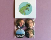 X-Files Pin Pack - One Inch Pinback Buttons