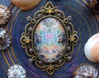 Beloved - Swarovski Crystal Cabochon Necklace by Ishka Lha