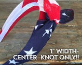 American Flag Knot Tied Headband Bandanna Headwrap Hair Band