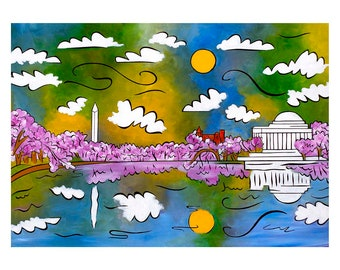 Cherry Blossom Sunrise - Artist Proof edition numbered to 3 - Large giclee print by Joel Traylor
