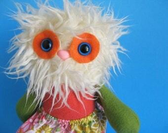 Monster Yeti Girl Doll Twirl Skirt Abominable Snowman Stuffed animal Plush Colorful
