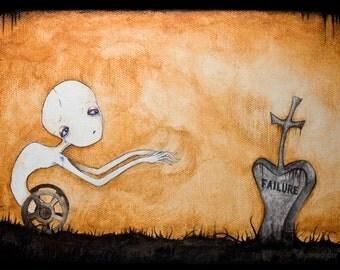 Spinestealer cemetery Art Print
