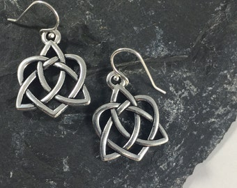 Sterling Silver Celtic Love Knot Earrings Outlander Jewelry Mother's Knots Christmas Gift Mom Heart Valentine Infinity Eternity Irish Jamie