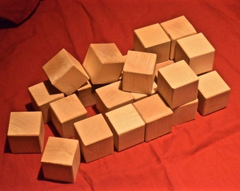 Box of Maple Blocks - 24 Wood Toys