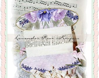 Lavender Rose Lace and Ribbon keeper