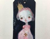 Lil Star Princess art tag - original 3x6