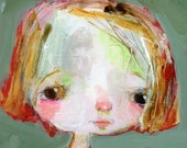 Clara - mixed media art print by Mindy Lacefield