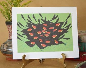 Vintage Red Winged Blackbird Prints Charley Harper, Vintage Prints, MCM Art, Harper Art Print, Bird Ephemera Prints,Charles Harper Art,