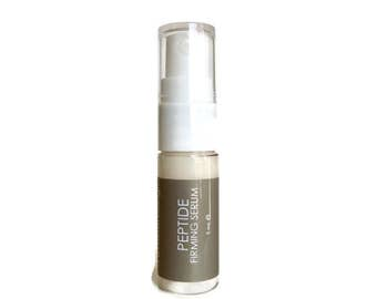 Peptide Firming Serum. Wrinkle Serum. Tightening. Fine Lines. Natural Organic Chemical Free Non Toxic Skin Care. Vegan..
