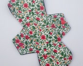"10"" MODERATE Absorbency Asymmetrical Reusable Cloth Menstrual Pad"