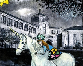 No One Knew She Rode a Unicorn to School
