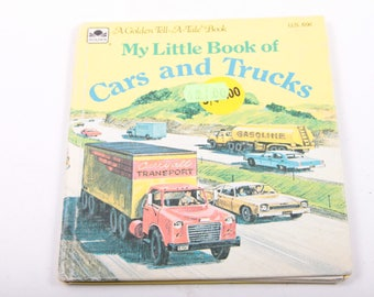 My Little Book of Cars and Trucks, A Golden Tell A Tale, Children, Vintage Book ~ The Pink Room ~ 170304