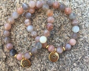 New - Luxe Peach Moonstone Bracelet