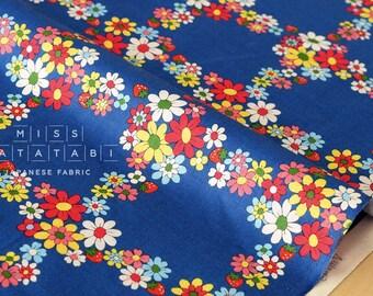 Japanese Fabric Atsuko Matsuyama Fancy Cross - blue - fat quarter