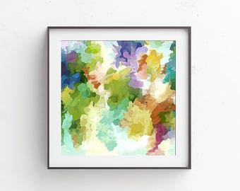 Abstract Watercolor, Pastel Art Print, Abstract Art Print, Watercolor Painting, Pastel Wall Art, Pastel Watercolor, Watercolor Art Print