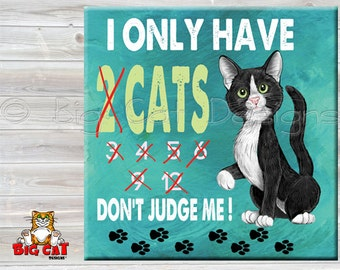 CAT LOVER tile,  Cat Trivet. Cat Spoon Rest. Cat Sign, Hanging Cat Sign, Cat Friendship Gift, Cat Lover Gift.  Funny Cat Gift.