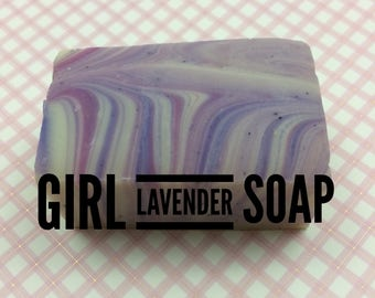Girl Lavender hand made cold process soap
