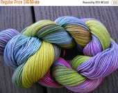 Sale 25% OFF HAPPY Handpainted Organic Cotton Bamboo Yarn 185yds 1.25oz  Fingering Sock Crochet Hand Painted Aspenmoonarts knitting handdyed