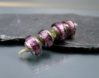 Made to order Handmade Lampwork Nugget Beads by GlassBeadArt … Amethyst Sparkling Rocks ... SRA F12 ... 10x12mm