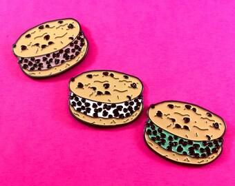 Chipwich Chocolate Chip Cookie Ice Cream Sandwich - Enamel Pin
