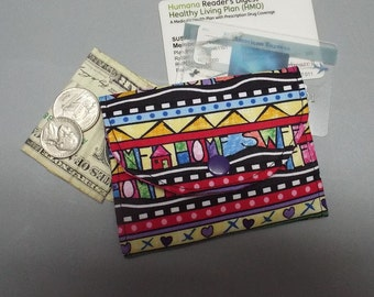Mini Fabric Wallet Home Sweet Home Fabric