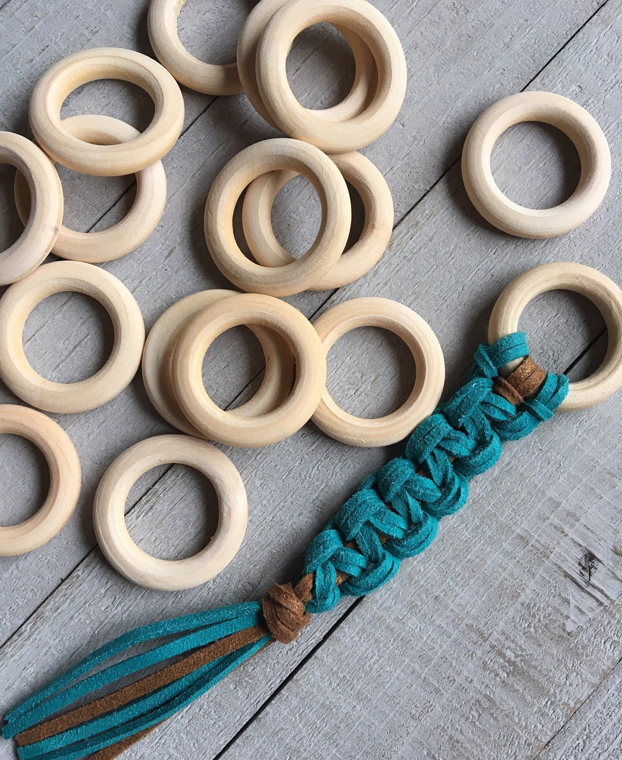 Macrame rings unfinished wooden rings for dream catchers for Wooden rings for crafts