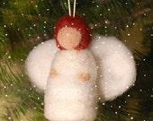Needle felt pdf instructions - Felt Baby Angel - Tree Ornament - Immediate Download - from Handwork Studio