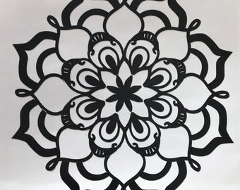"Mandala Vinyl Decal, Laptop, Wall, and more, Removable, 3.5"" x 3.5"""